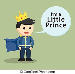 Kleiner Prinz mit Ausruf.