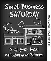 Kleines Geschäftszeichen am Samstag