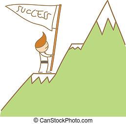 Klettere zum Erfolg