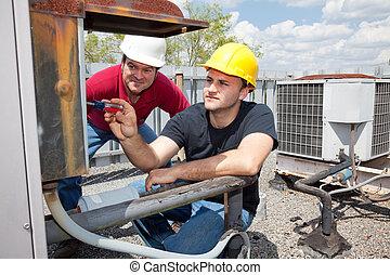 Klimaanlagenreparaturmann