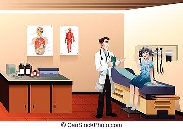 klinik, doktor, patient
