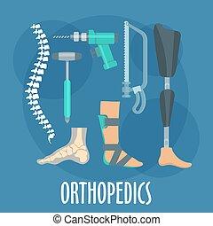 klinik, orthopädie, design, prothetik, ikone