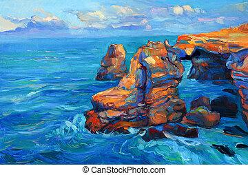 Klippen und Ozean