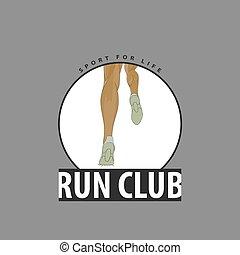 klub, emblem, läufer