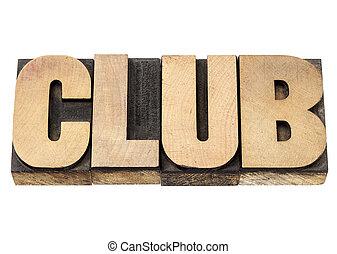 klub, formulieren holz, art