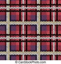 Knitting checkered nahtlose Muster in verschiedenen Farben.
