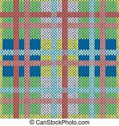 Knitting nahtlose Muster in verschiedenen Farben.