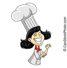 Kochmädchen.