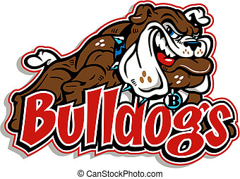 koerper, bulldogge, voll, grinsen