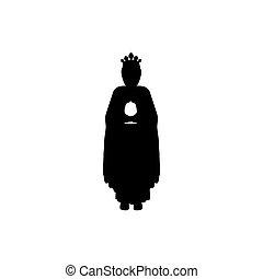 koerper, wohnung, silhouette, maenner, geschenke, weise, ikone
