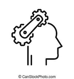 Kognitive Prozess Illustration Design.