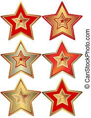 Kollektion der Sterne (Vektor)