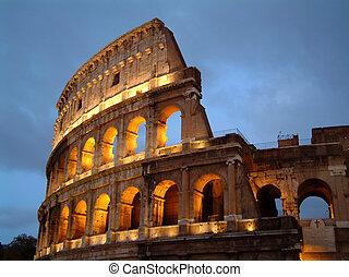 Kolosseum in der Nacht