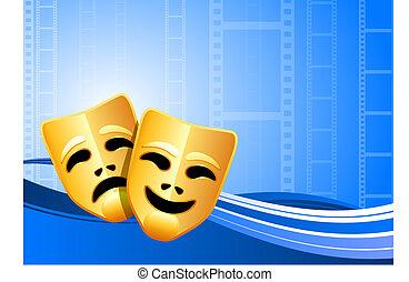 Komödien und Theater machen Hintergrund