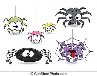 Komische Halloween-Spinne.