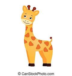 Komische rote Giraffe