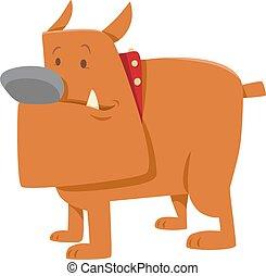 Komischer Bulldog-Dog-Cartoon.