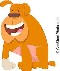Komischer Bulldog-Dog-Charakter.