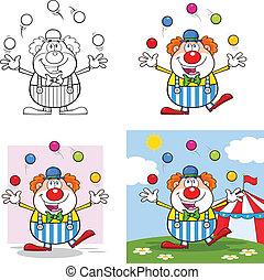 Komischer Clown 4. Sammlung