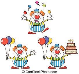 Komischer Clown. Sammlung