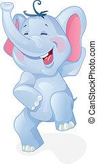 Komischer Comic-Elefant.