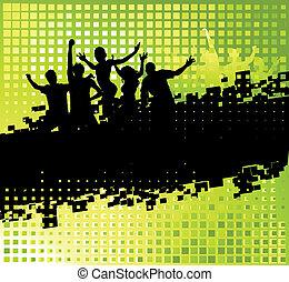 Komischer Party-Hintergrund mit Platz für Ihren Text.