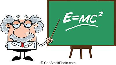 Komischer Wissenschaftler oder Professor.
