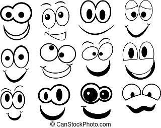 Komisches Cartoon-Gesicht.