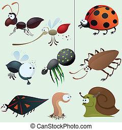 Komisches Insekt-Set.