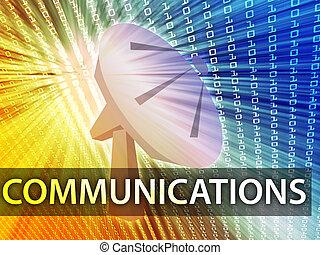 kommunikation, abbildung