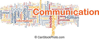 kommunikation, begriff, hintergrund