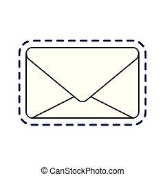 kommunikation, briefkuvert, post, geschlossene, fleck