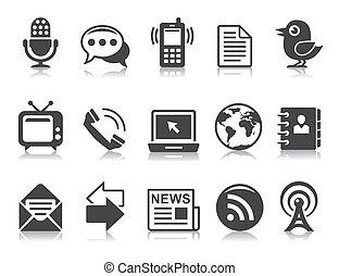 Kommunikations-Ikonen