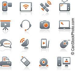Kommunikations-Ikonen / Graphit