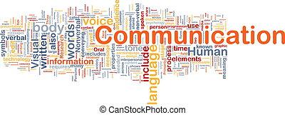 Kommunikationshintergrundkonzept