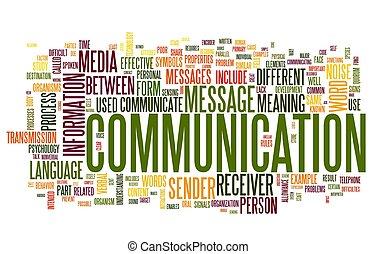 Kommunikationskonzept in Wort-Tag-Wolke