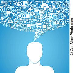 Kommunikationsmann für soziale Medien