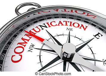 Kommunikationsrotes Wort über den konzeptionellen Kompass