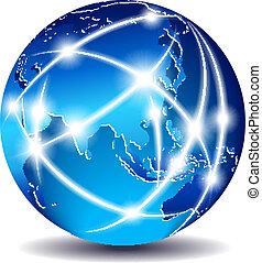 Kommunikationswelt - weit Osten