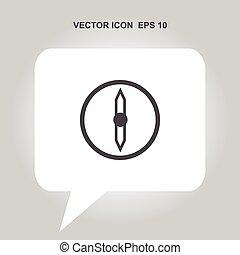 kompaß, vektor, ikone