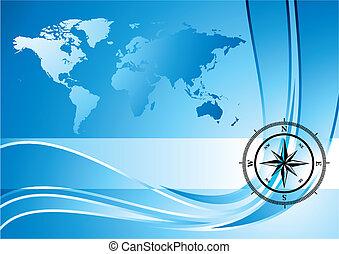 Kompass-Hintergrund