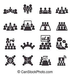 Konferenz- und Geschäfts-Ikone.