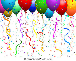 konfetti, luftballone