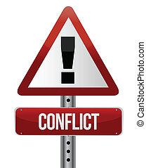 Konfliktwarnzeichen