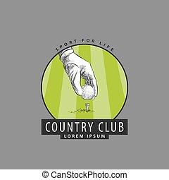 konkurrenzen, logo, golfen