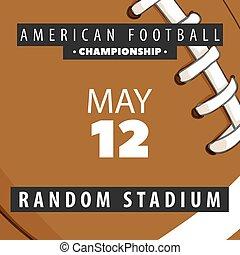 konkurrenzen, plakate, amerikanische , fußball