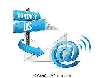 Kontaktieren Sie uns per E-Mail.