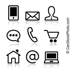Kontaktieren Sie Web-Vektor-Ikonen