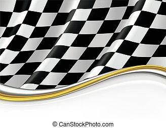 Kontrollierte Flagge, Vektorhintergrund.