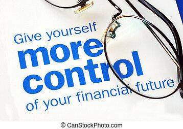 Konzentriere dich auf deine finanzielle Zukunft
